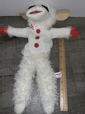 "Aurora Shari Lewis Lamb Chop Sheep Hand Puppet 2002 16"" Cream Plush Animal"