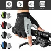Mountain Bike Gloves Half Finger Gel Cycling Shockproof Short Finger Sport Glove
