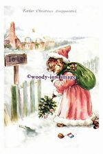 rp10408 - Louis Wain Cat - Father Christmas Disappointed - photograph
