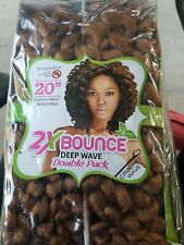"""Riah natural brand 2x bounce deep wave. Crochet wave Double pack New Sealed 20"""""""