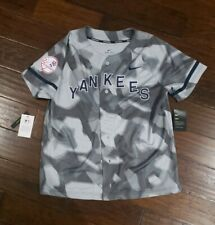 NIKE MENS MLB NEW YORK YANKEES CAMO JERSEY Size Medium Grey