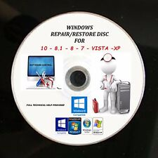 Windows 10 7 8 xp vista pro boot cd pc réparation récupération reset disque acer hp dell
