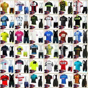 Men's Cycling Clothing Kits Short Jersey Brace Bib Shorts Maillots Tights
