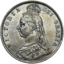 More details for 1887 halfcrown - victoria british silver coin - very nice