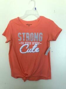 girls shirt M 7/8 Strong Is The New Cute