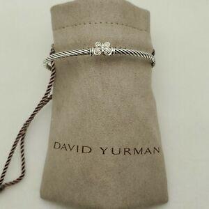 David Yurman Women's Cable Butterfly Bracelet with Diamond size small