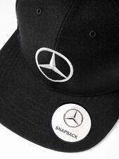 original Mercedes Benz Herren Base Cap Mütze Flat Prim 3D Stick schwarz Logo TOP