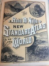 1890 The Rand McNally New Standard Atlas of the World / Maps