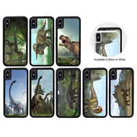 DINOSAUR | Protective Rubber Case for iPhone 5 5s SE 6 6s 7 8 PLUS X XR XS Max