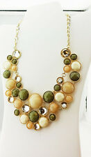 INC International Concepts Neutral‑color Stone Bib Necklace Msrp $39.50 *NWT*