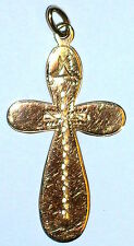 Anhänger Kreuz Gold 56 Russland um 1910  Größe 4,5 x 2,3cm