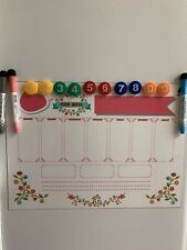 Kids Magnetic Dry Erase Board for Refrigerator w/Markers and Magnets - Pink NEW