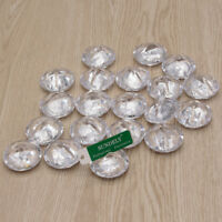 10/20 Crystal Clear Wedding/Party Table Place Card Number Name Holders Clip NEW
