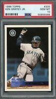 Ken Griffey Jr Seattle Mariners 1996 Topps Baseball Card #205 PSA 10 GEM MINT