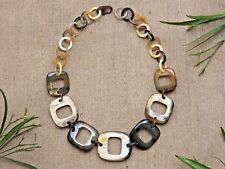 Natural Buffalo Horn Jewelry Short Necklace Unique Bijoux en Corne