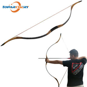 55inch Traditional Archery Recurve Bow 30-55lbs Handmade Horsebow for Men/Women