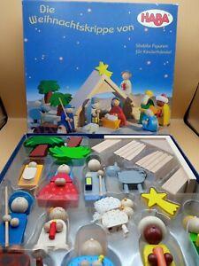 HABA 8200 ⭐️ Weihnachtskrippe 18 Teile Krippe Holz Kinderkrippe, Figuren