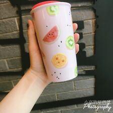 New Starbucks 2018 China Summer Happy Fruit Double Wall Mug