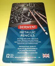 DERWENT METALLIC PENCILS~12 CT COLORED PENCILS~BRAND NEW~BID @ $1~DRAW FOR DAYS!