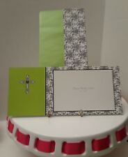 Holiday Photo holder postcard style 20 with designed Envelopes -cross