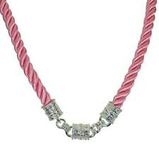 Kirks Folly Mystic Cord Interchangeable Magnetic Necklace Silvertone & Pink
