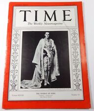 TIME Magazine The Viceroy of India (October 12, 1936) LORD LINLITHGOW