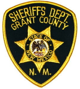 """GRANT COUNTY NEW MEXICO NM Sheriff Police Patch LG 5"""" AA24"""