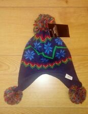 New Trespass Baby Boys Navy Blue Winter Knitted Bobble Hat - One Size