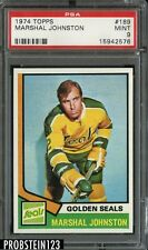 1974 Topps Hockey #189 Marshal Johnston Golden Seals PSA 9 MINT