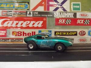 AURORA TJET CANDY GREEN COBRA GT WITH TJET OPEN RIVIT CHASSIS #1396