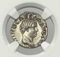 Roman Empire Otho AD 69 Silver Denarius NGC AU #8 Of The Twelve Caesar's Glowing