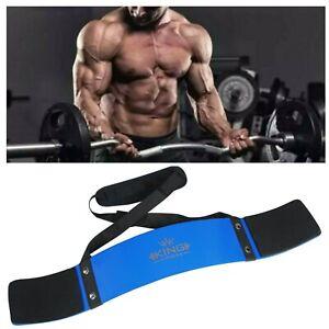 UK KING Blue Bicep Isolator Gym  Bar Curl Blaster Arm Training Weight Lifting