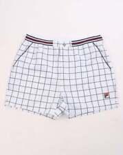 Fila Shorts in White & Navy - check pattern retro tennis, Borg Settanta Terrinda