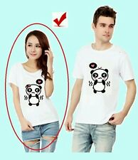 Gildan Couple T Shirt Panda (Ladies/White)