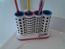 Novelty Glam Beauty Hair Salon Dot Diva Chic Girl Lady Bath Toothbrush Holder