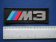 BMW  ' M3 ' logo Cloth Badge/Patch,For your Jacket, Overalls etc ,Sew or Iron on