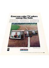 1972 Emerson TV Television Olympic Sport - Vintage Advertisement Print Ad J405