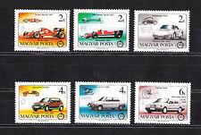 Hongrie   serie 6 voitures automobiles   1986   num: 3041/46  **