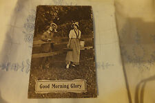 Antique postcard sweet heart Nice couple good morning glory St Lawrence S Dakota