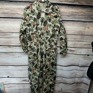 Walls Mens Size Medium Regular 38-40 Chest Camouflage Camo Coveralls