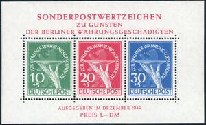 BERLIN 1949, Block 1, postfrisch, Befund Schlegel, Mi. 950,-