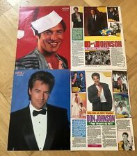 DON JOHNSON 1980s Miami Vice Clippings Poster Swedish magazine Okej Vintage