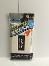 1 x Gatsby Powdered Oil Clear Paper Matte Finish, super absorbent 70 sheets