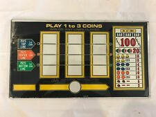 Bally Slot Machine Black Reel Glass Play 1 to 3 Coins 100 Coin Jackpot