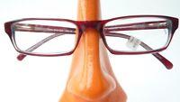 Schmale Brillenfassung Gestell braun Flexbügel unisex Plastikgestell Gr M