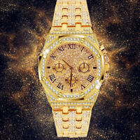 Delicate Gypsophila Wristwatch Crystal Iced Out Watch Silver Golden