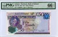 Northern Ireland 50 Pounds 2013 P 89 Gem UNC PMG 66 EPQ Highest