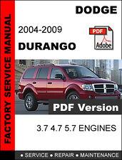 DODGE DURANGO 2004 2005 2006 2007 2008 2009 SERVICE REPAIR WORKSHOP MANUAL