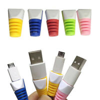 32PCS USB Data Charger Cable Cord Protector Saver Protective For iPhone Samsung