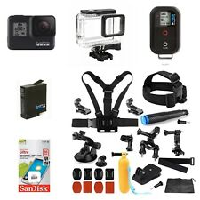 GoPro Hero7 Black CHDHX-701 + Smart Remote +16GB Card + Extreme Sports Bundle